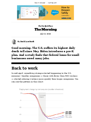 The New York Times - Wednesday Morning: A stimulus idea that works