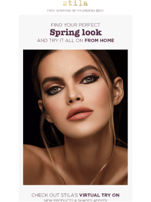 Stila Cosmetics - Find your perfect spring look with Stila's Virtual Try On!