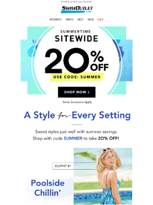 Save in Style 👙 20% off Sitewide