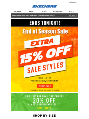 SKECHERS - Open up for a special offer!