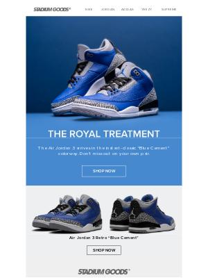Stadium Goods - Now available: Air Jordan 3 'Blue Cement'