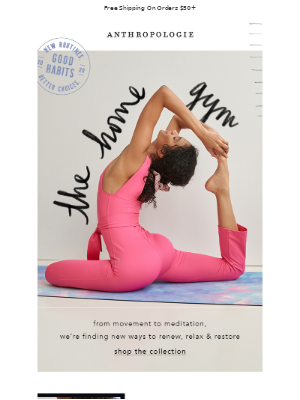 Anthropologie - Strike a (yoga) pose with these.