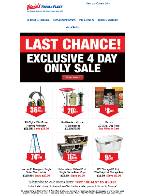 Blain's Farm and Fleet - Last Chance 4-Day Only Sale ★ Offers End Today!