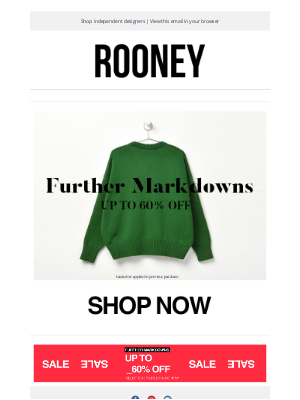 Rooney Shop - Further Markdowns : Treat Yourself.