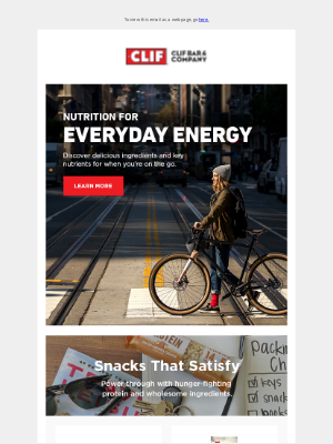 Clif Bar & Co. - Feel Your Best with Everyday Energy