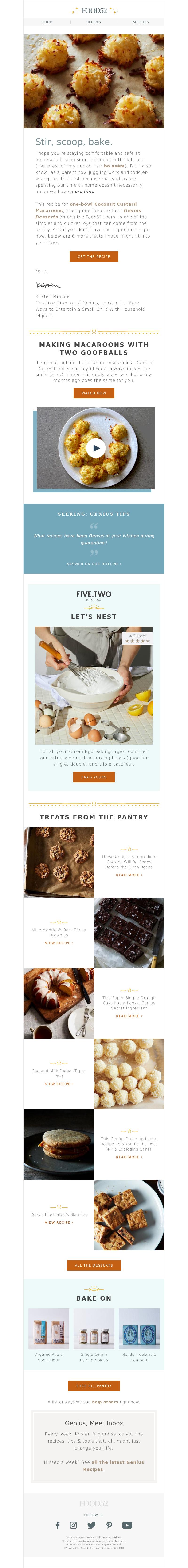 A stir-and-scoop comfort food. Food52 SHOP RECIPES ARTICLES Caramelly-Crisp