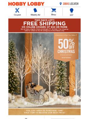 Hobby Lobby - Winter Wonderland – 50% Off 🎄