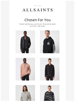 ALLSAINTS (UK) - Your new monthly recommendations