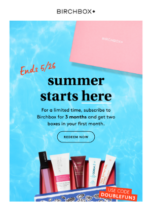 Build your routine with TWO Birchboxes