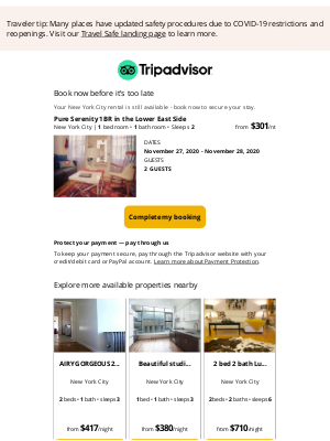 TripAdvisor - Book your rental in New York City before someone else does