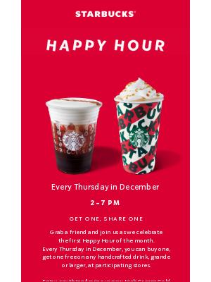 Happy Hour is tomorrow (bring a buddy!)