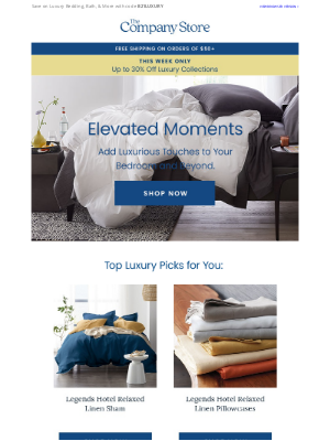 The Company Store - Up to 30% Off: Top Luxury Picks for Your Bedroom & Beyond