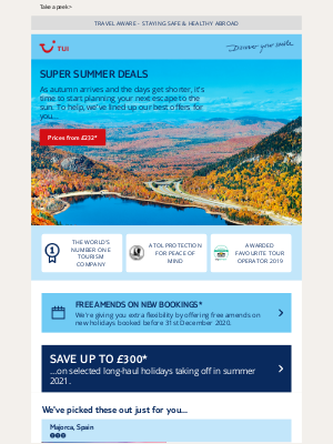 TUI (UK) - Next summer's best deals