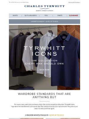 Meet the Tyrwhitt Icons