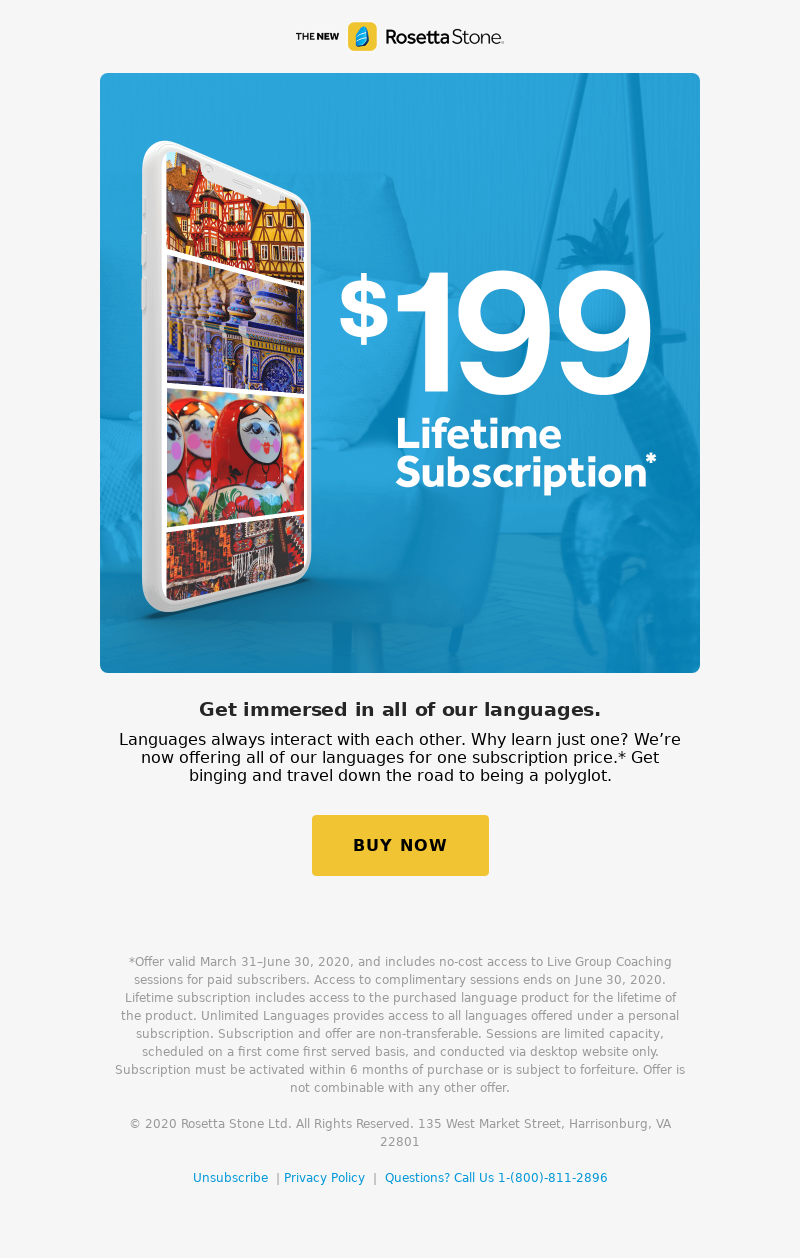 Rosetta Stone - $199 to binge all of our languages