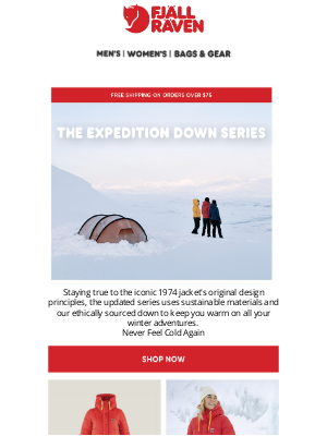 Fjällräven - Keep Warm This Winter In Our Iconic Expedition Down Series