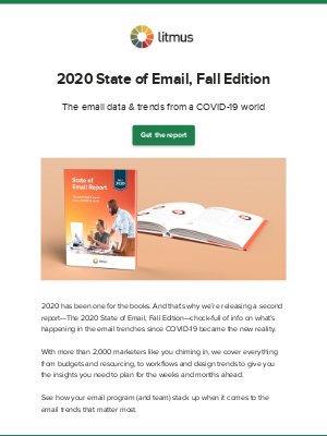 Litmus - Announcing: The 2020 State of Email Report, Fall Edition