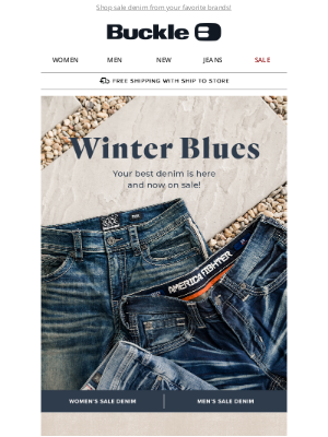 The Buckle - The New Year Calls for New Sale Denim!