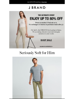 J BRAND - Up to 80% Off Sitewide