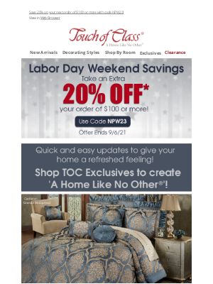 Touch of Class - Labor Day Savings are heating up with these Exclusives!