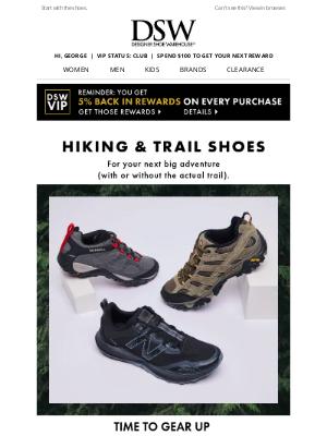 Designer Shoe Warehouse - Up for an adventure?