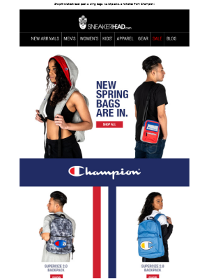 Just in --> Champion Spring Bag Collection