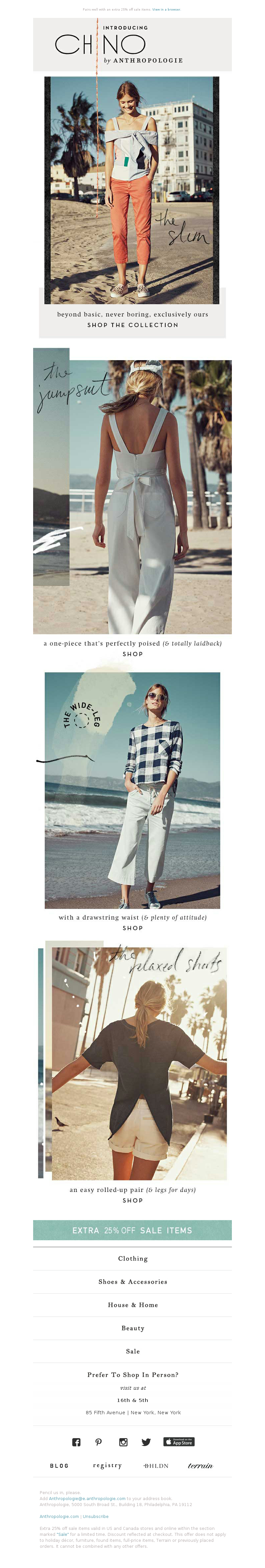 Anthropologie - Introducing: CHINO by Anthropologie.