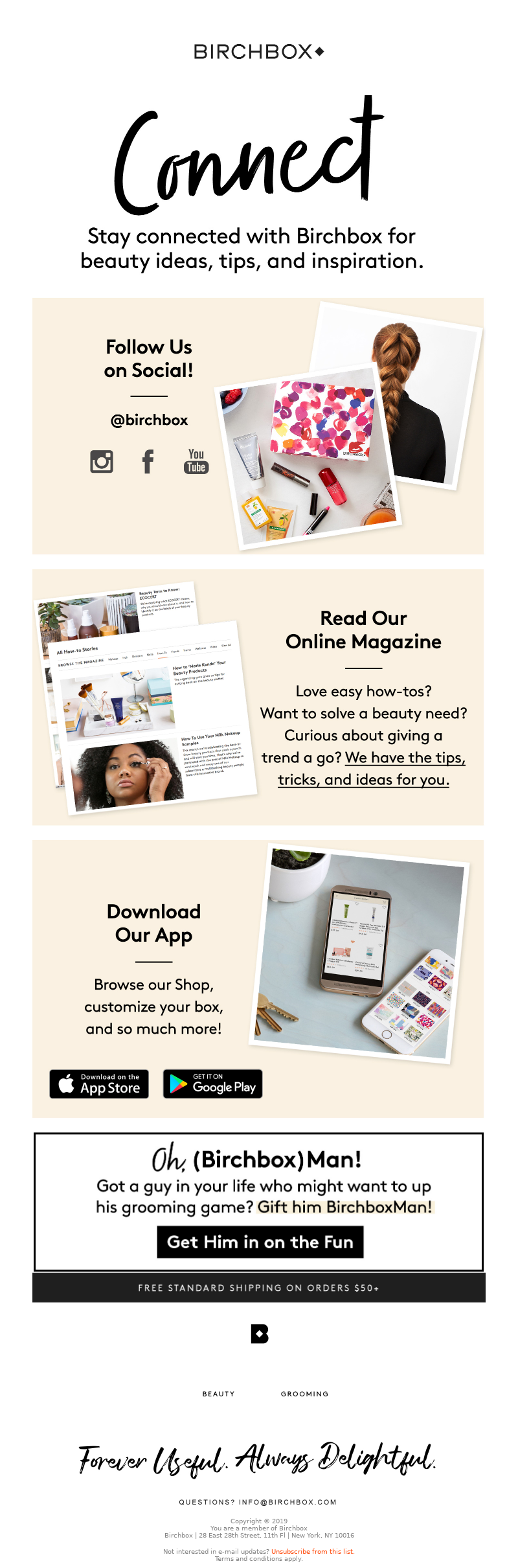 Birchbox ConnectFollow Us on Social @birchboxRead Our Online MagazineDownlo