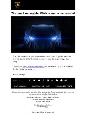 Lamborghini - The new Lamborghini V10 is about to be revealed