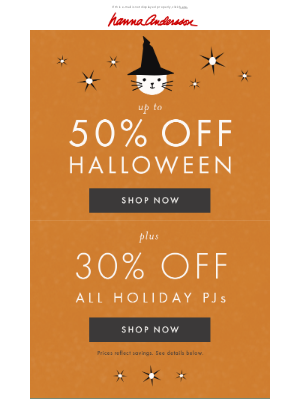 Hanna Andersson - 50% off Halloween + 30% off holiday PJs ends tonight