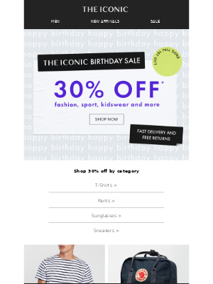 THE ICONIC AU - Take a BIG birthday 30% OFF! You're invited 🎂🎇
