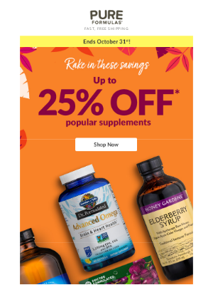 PureFormulas - Up to 25% off top vitamins and supplements
