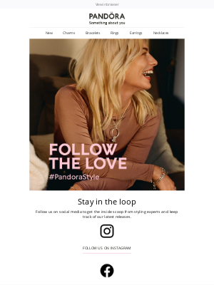Pandora Jewelry USA - Connect with us on social media 💫