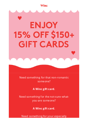 Winc - ❤️ Your last-minute Valentine's Day gift guide ❤️