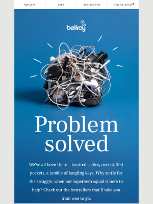 Bellroy - Problems, meet solutions.