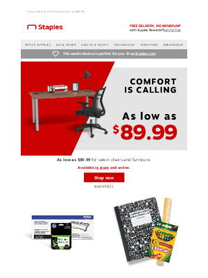 Staples - Ready to reimagine your space?