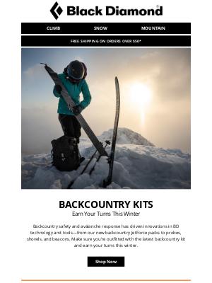Black Diamond Equipment - Backcountry Kits—Earn Your Turns