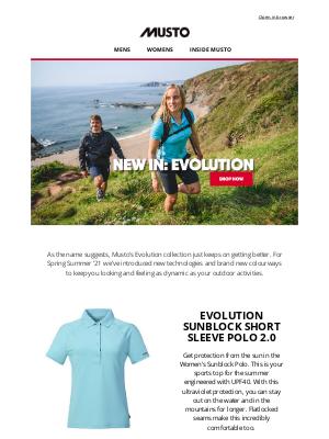 Musto UK - NEW FOR SS21: EVOLUTION