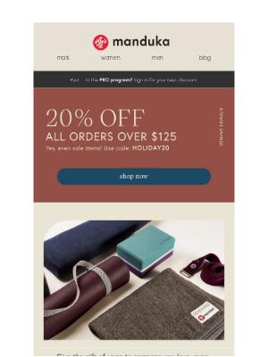 Manduka - Save 20% Sitewide