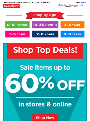 Lakeshore Learning - Up to 60% Off, Plus Desks & Chairs to Refresh Your Learning Space