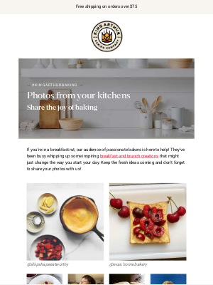 King Arthur Flour - Behold Your Beautiful Breakfasts! 📸