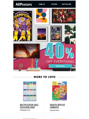 AllPosters - Dominate the holidays with 40% Off Everything