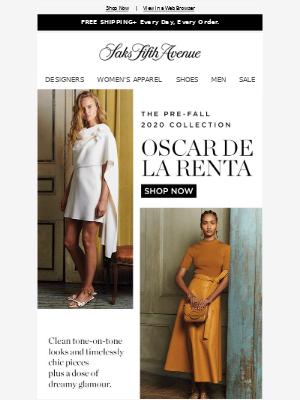 Barney's New York - Timelessly chic pieces & dreamy glamour from Oscar de la Renta