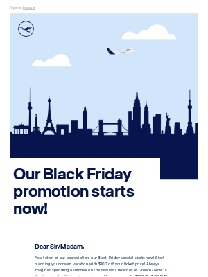 Lufthansa - Celebrate the holiday with this special promotion!