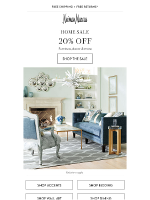 Don't miss the Home Sale!