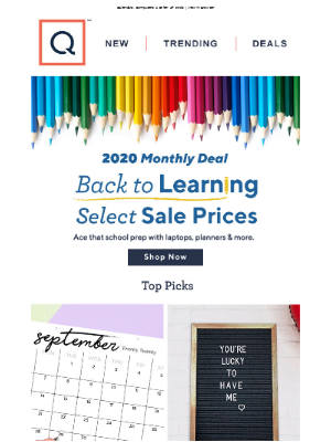 QVC - 2020 Monthly Deal: Back to Learning Sale Prices