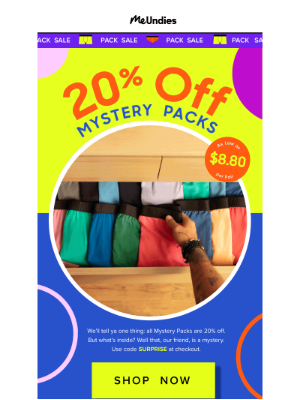 20% Off Mystery Packs
