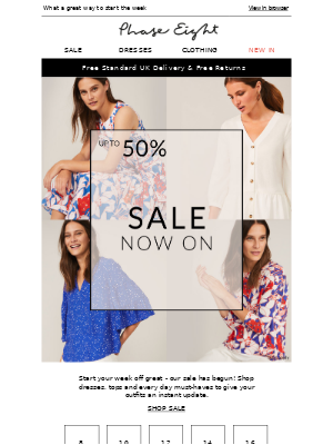 Phase Eight (UK) - Up to 50% off SALE now on!