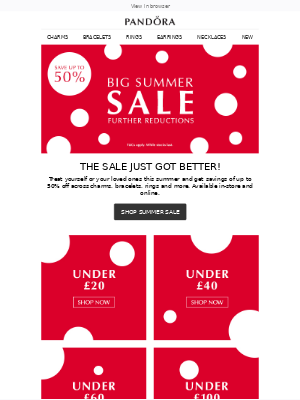 FUTHER REDUCTIONS! The Summer SALE just got better
