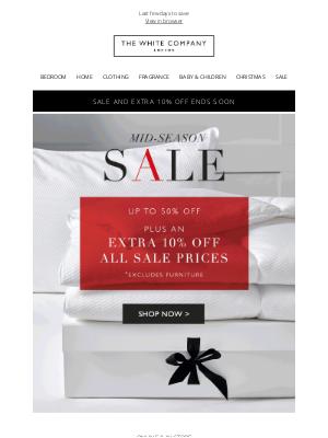 The White Company - Take an extra 10% off Mid-Season Sale